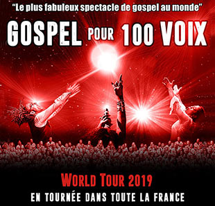 Grand spectacle GOSPEL POUR 100 VOIX WORLD TOUR THE 100 VOICES OF GOSPEL NICE