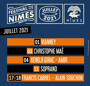 Pop-rock/Folk FESTIVAL DE NIMES 2020 NIMES