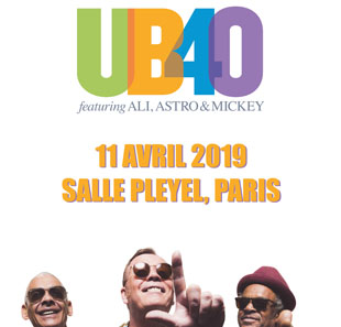 Pop-rock/Folk UB40 feat. ALI CAMPBELL, ASTRO,... PARIS