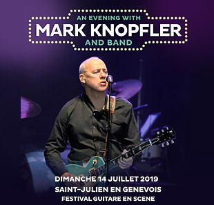 Pop-rock/Folk MARK KNOPFLER + 1ERE PARTIE FESTIVAL GUITARE EN SCENE SAINT JULIEN EN GENEVOIS