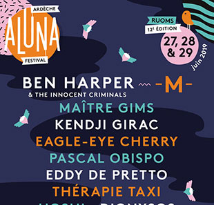 Pop-rock/Folk ARDECHE ALUNA FESTIVAL -PASS 1 JOUR 12EME EDITION RUOMS