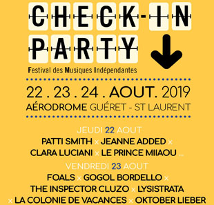 Pop-rock/Folk CHECK IN PARTY FESTIVAL 2019 GUERET