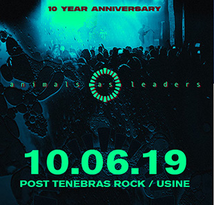 Hard-rock/Métal ANIMALS AS LEADERS (US) // METAL 10 YEARS ANNIVERSARY GENEVE