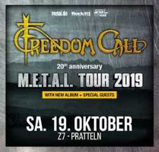 Hard-rock/Métal FREEDOM CALL M.E.T.A.L. Tour 2019 PRATTELN