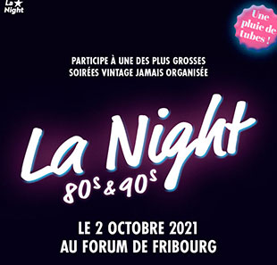 Pop-rock/Folk LA NIGHT - 80'S & 90'S Soirée Vintage GRANGES-PACCOT