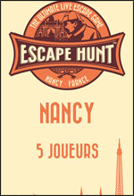 LIVE ESCAPE GAME NANCY- 5 PERSONNES