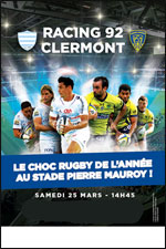 RACING 92 - CLERMONT