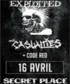 Réservation THE EXPLOITED + THE CASUALTIES