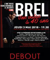 Réservation JACQUES BREL - PLACE DEBOUT