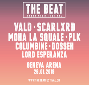 Rap/Hip-hop/Slam THE BEAT#03 - URBAN MUSIC FESTIVAL Vald,Dosseh,Columbine,PLK,Scarlxrd GENEVE